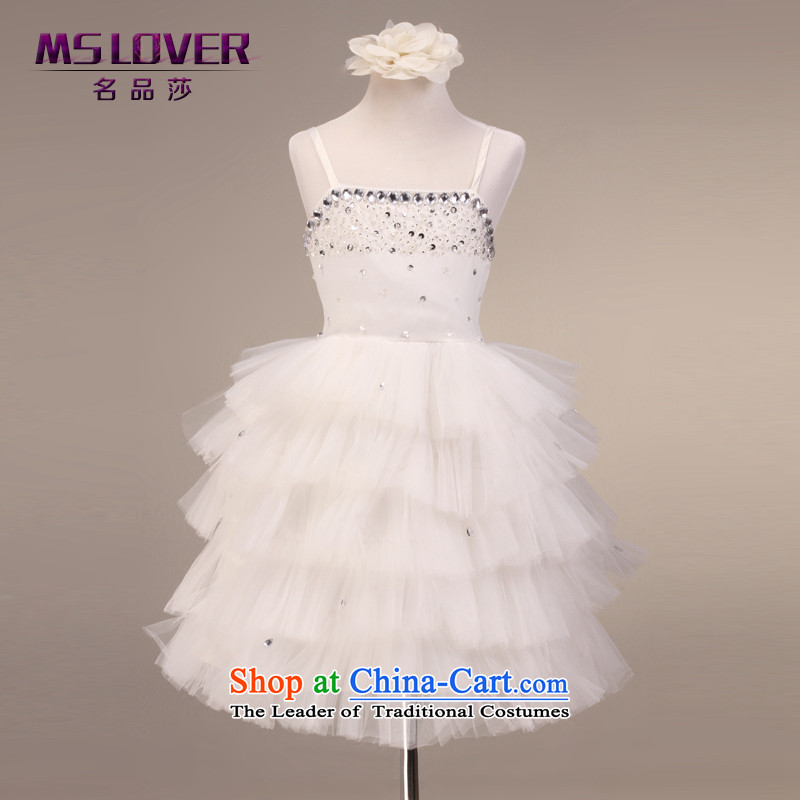 The lifting strap is luxury mslover bon bon skirt girls princess skirt children dance performances to dress wedding dress Flower Girls 9076 m 8 white dress code