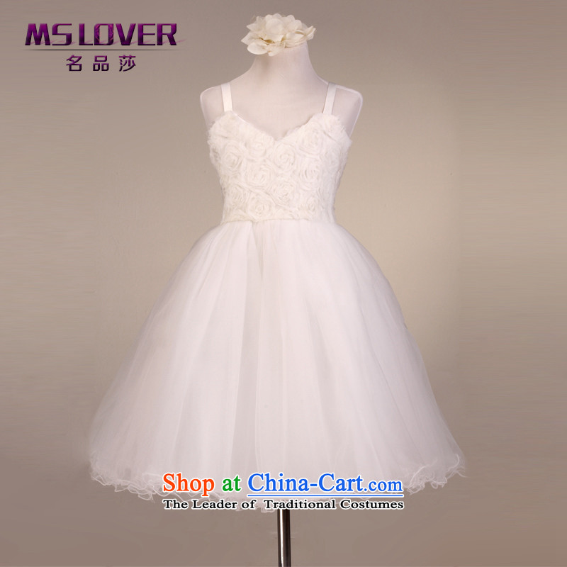 The lifting strap is sweet mslover bon bon skirt girls princess skirt children dance performances to dress wedding dress Flower Girls Law 9,099 m white dress code (12 scheduled 3-7 day shipping.)