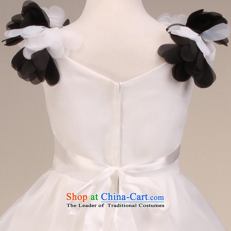 Msloversleeveless flowers bon bon skirt girls princess skirt children dance service wedding dress Flower Girls dress FD130610 rice white6 yards, name of Lisa (MSLOVER) , , , shopping on the Internet
