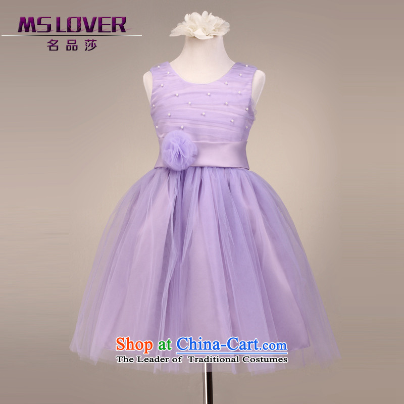 �Bon Bon mslover dream purple princess dress flower girl children performances�FD130611�purple�6 code dress