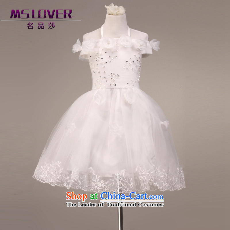 �Mount also lace mslover bon bon skirt girls princess skirt children dance performances to dress Flower Girls dress�FD130613�rice white�4 code