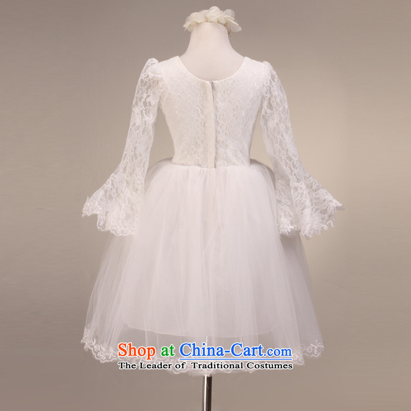 Mslover horn long-sleeved bon bon skirt girls princess skirt children performances dress Flower Girls dress FD201211002 rice white 12 code (3-7 Day Shipping, Scheduled, Lisa (MSLOVER) , , , shopping on the Internet
