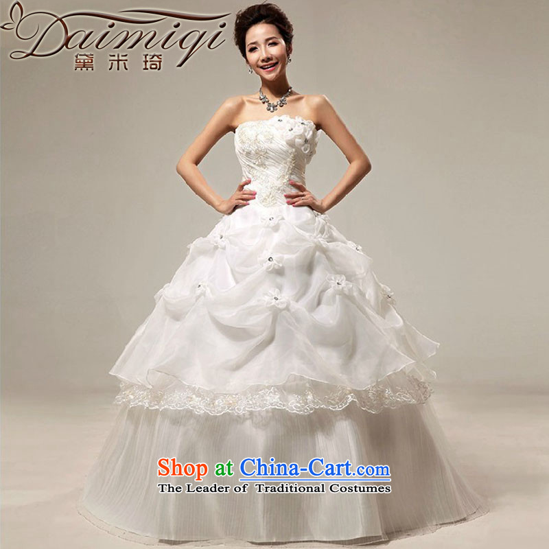 Wedding dresses new 2014 Korean sweet princess wedding alignment with chest retro niba wedding dress summer White?M