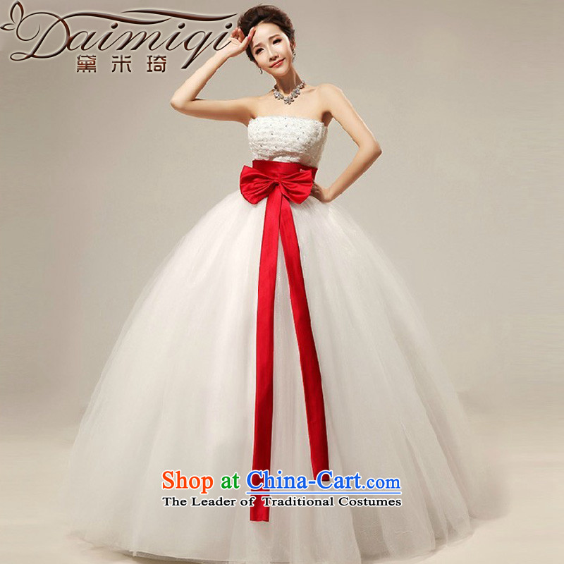 Doi m qi 2014 sweet bow tie straps align wiping the chest in marriages, wedding dresses wedding Snapshot New White�S