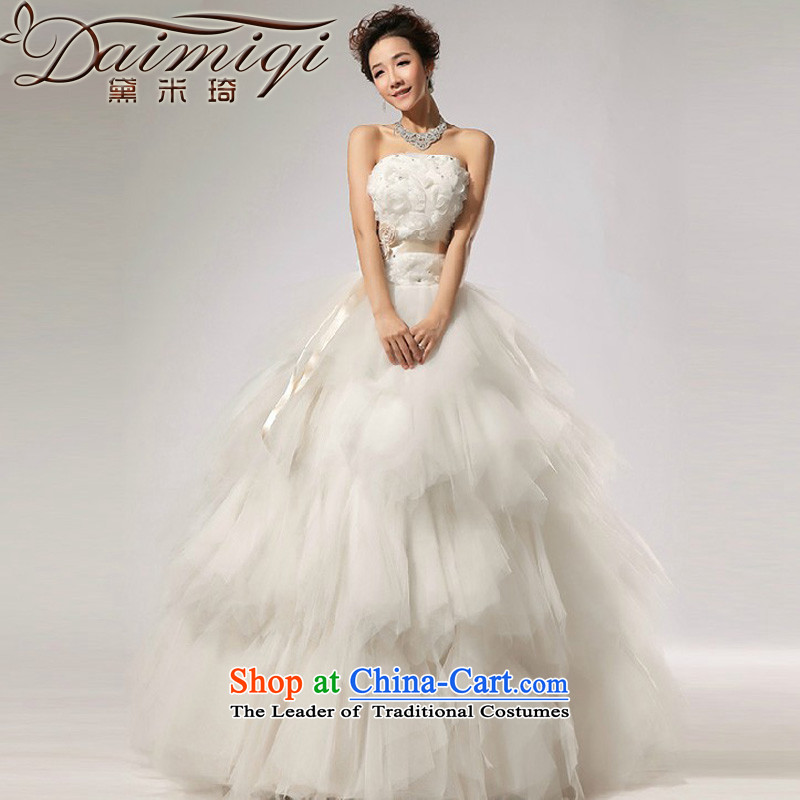 Doi m qi 2014 NEW VERY elegant sweet anointed WANG antique chest stylish wedding white聽L