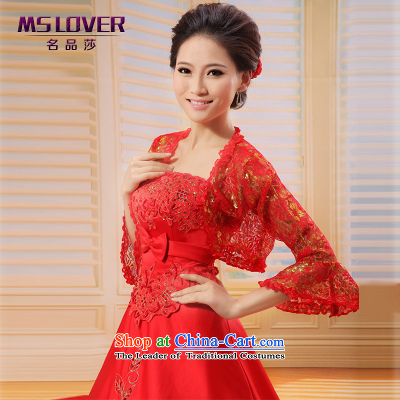 �Korean horn cuff mslover silver hot ironing Kim lace marriages cheongsam wedding dresses shawl shawl�OW121103�Red Hot Spring and Autumn Kim