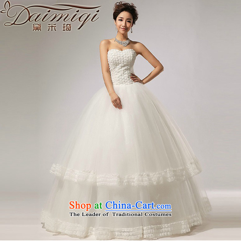 Doi m Qi Wedding?2014 new anointed chest Marquee to skirt for Hotel Courtesy bride wedding dress White?XL