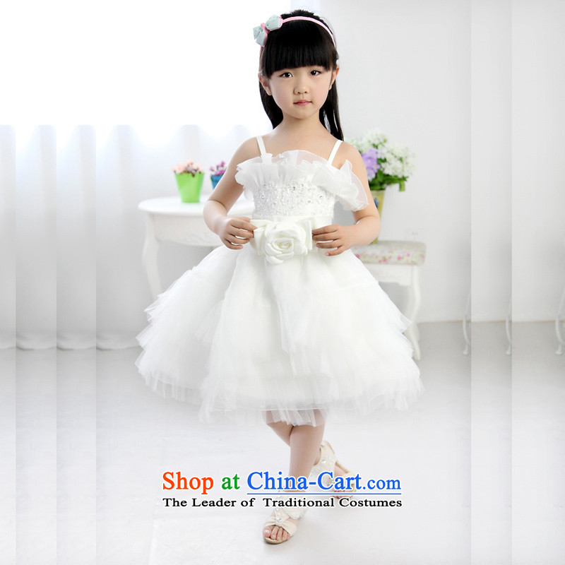 Shared Keun guijin children dress skirt bon bon skirt flower children's wear skirts princess girls Korean children wedding dress evening dresses t46 ivory 8 from Suzhou Shipment