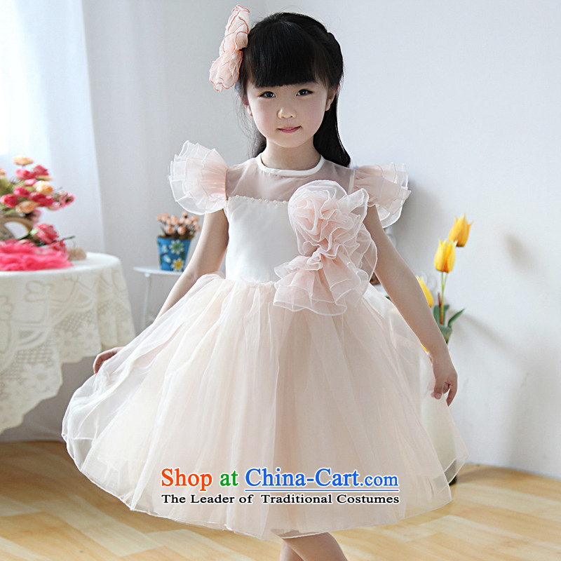 Shared Keun guijin flesh princess yarn short-sleeved short skirt as Princess skirt girls dress uniform t40 L code performances from Suzhou Shipment
