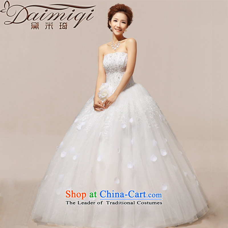 Doi m qi 2014 new wedding dresses and gorgeous hotel to align the chest stars sweet wedding dresses normal version Korean?XL