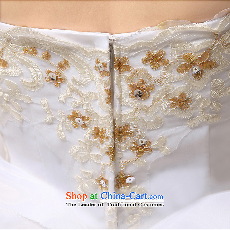 Doi m qi wedding dresses to align the new 2014 wedding anointed chest Korean Princess graphics thin OSCE root yarn upscale wedding whitetie, S/M Qi , , , diana shopping on the Internet