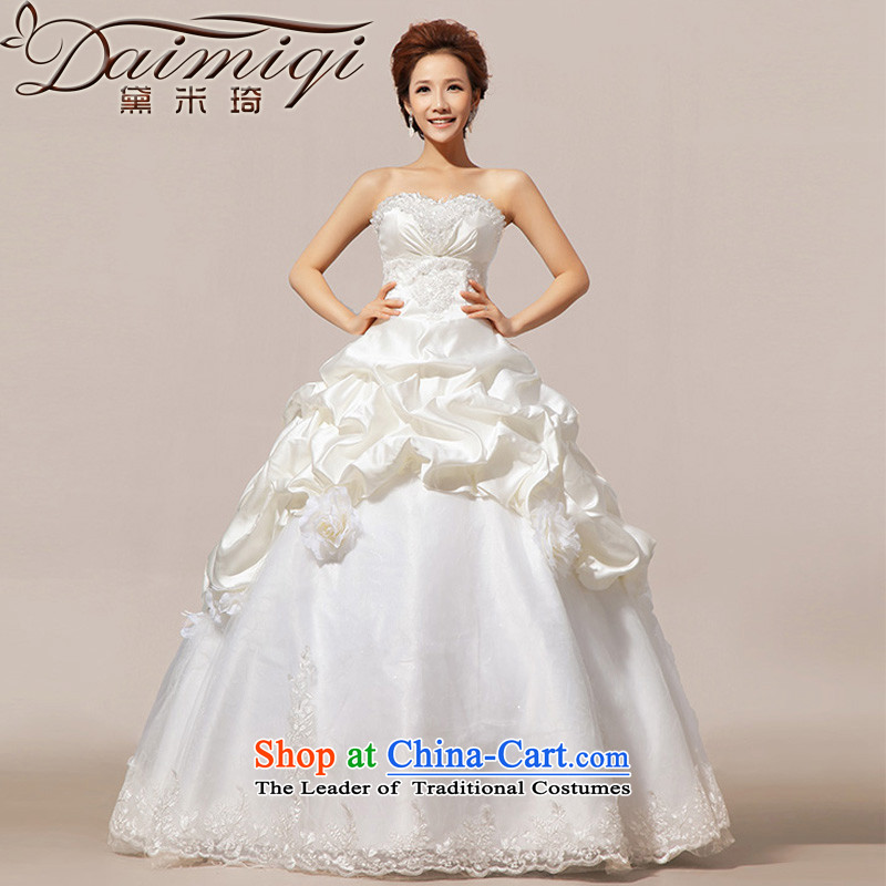 Doi m qi wedding dresses new 2014 Korean sweet Princess Mary Magdalene chest wedding?vera wang?wei wang wei style?10 storey Platinum Edition?L
