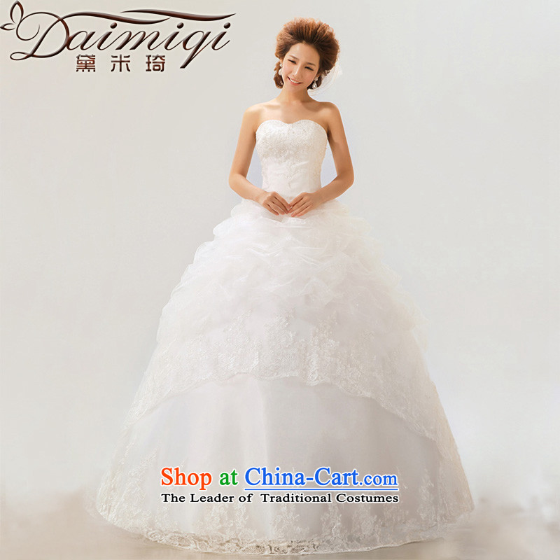 Doi m qi 2014 new Korean anointed chest wedding dresses to align the princess sweet strap pregnant women?12 storey wedding Platinum Edition?L