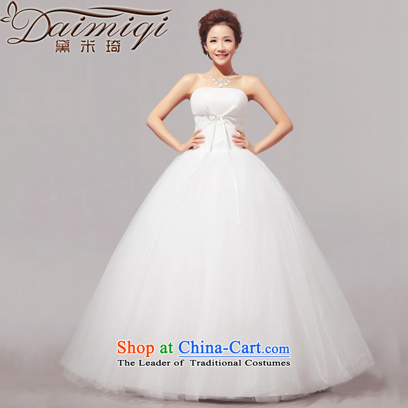 Doi m qi new聽spring 2014 new minimalist sweet words to his chest bon bon wedding dresses White聽XXL