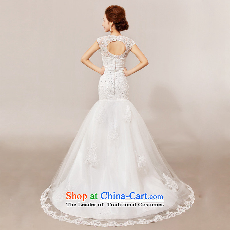 Doi m qi 2014 New Angel lace on small trailing wedding gown wedding dress white, L, M Qi , , , diana shopping on the Internet