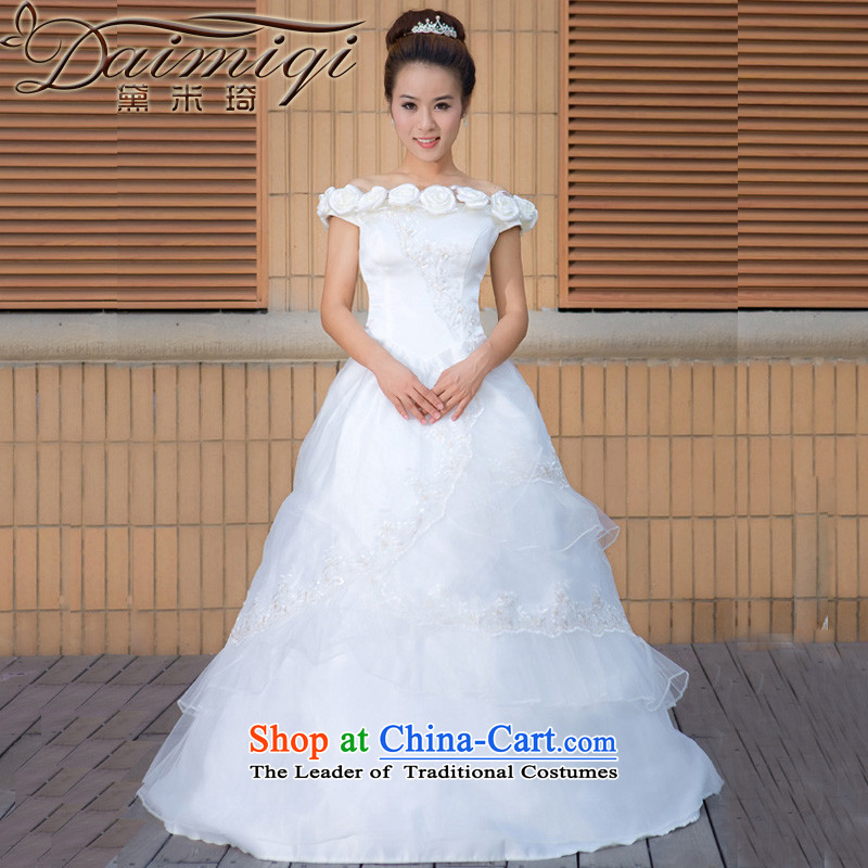Doi m qi wedding dresses the new version of the Word 2014 won shoulder wedding dresses larger pregnant women can penetrate wedding White?M