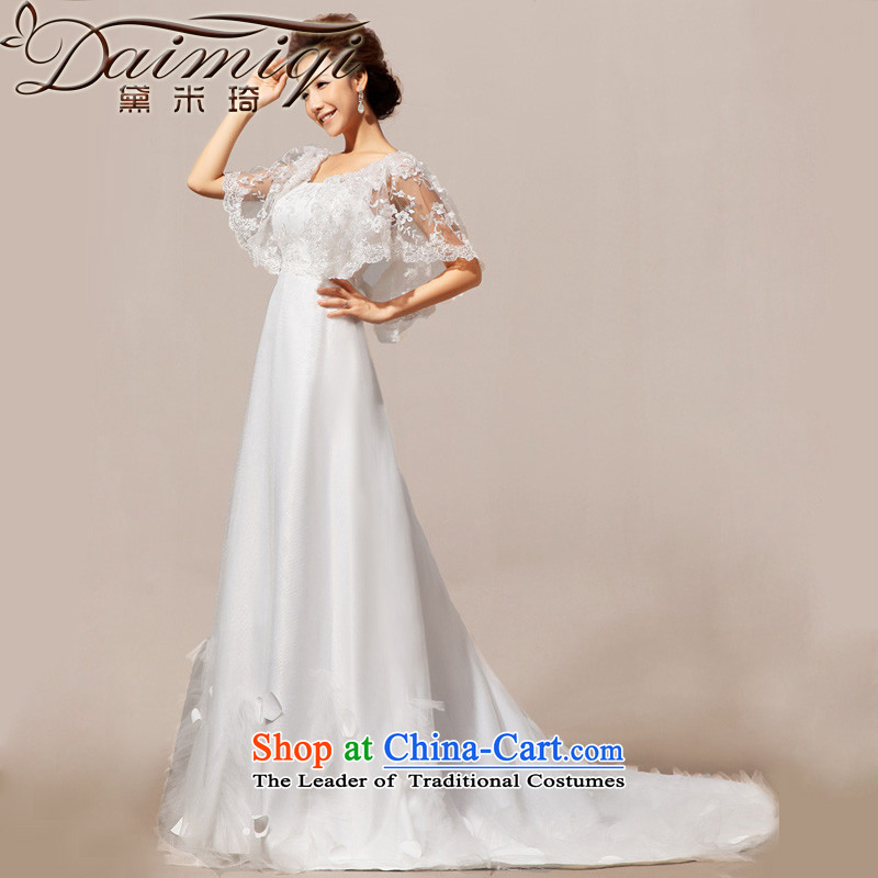 Doi m qi 2014 New Angel lace spring, a field shoulder small wedding gown crowsfoot wedding dresses White?XXL