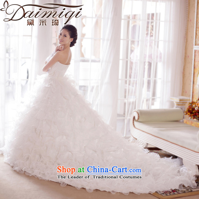 Doi m Qi Korean Romantic_erase chest lace_Tail_marriages_wedding dresses聽2014 new wedding tail_聽XL