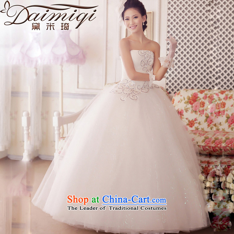 Wedding dresses new anointed chest straps 2014 Korean pregnant women made Top Loin of Summer Wedding White聽XL waist 2 ft 2