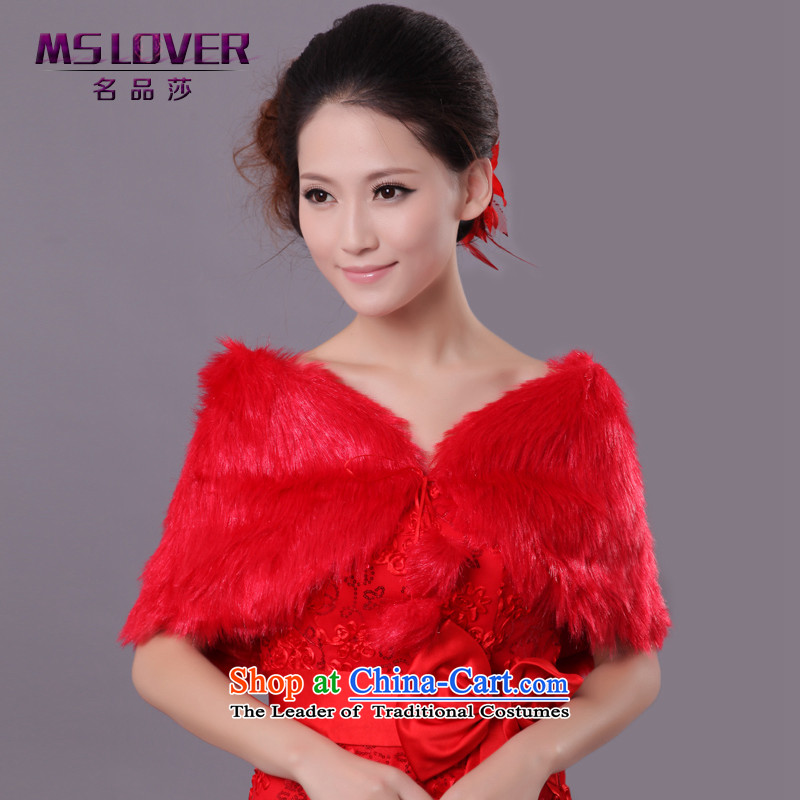?Wedding dress in spring and autumn mslover warm winter partner plush tether gross ball marriages?FW121108 shawl?red both gross code