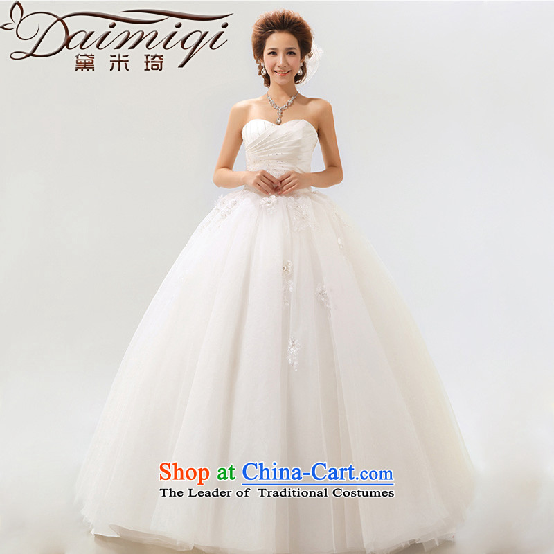 Summer 2014 new stylish Sweet flowers Korean Won-marriages wedding dresses m White?XL elegant