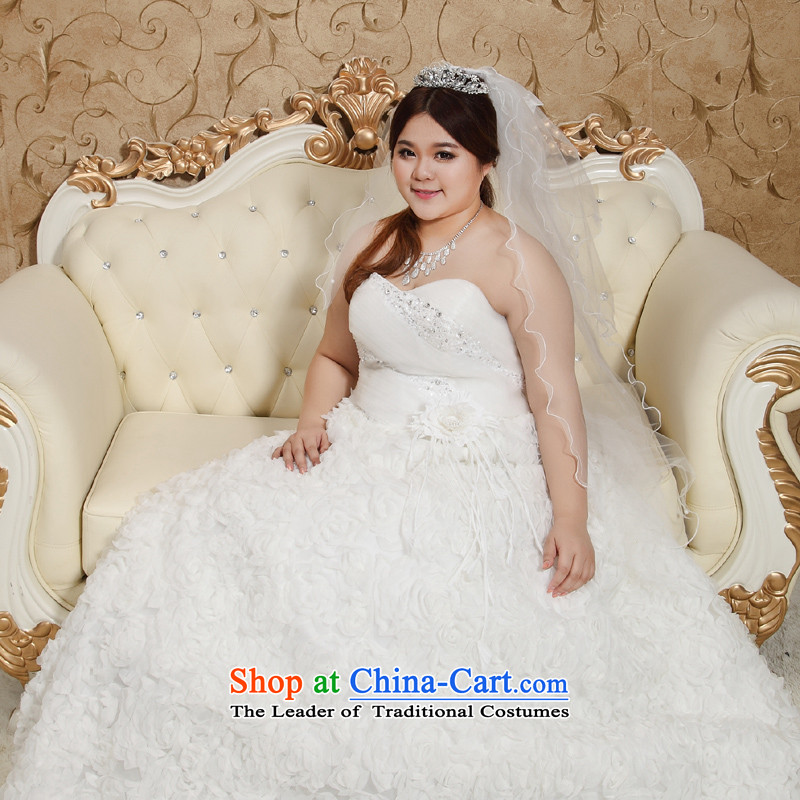 Shared Keun guijin wedding dresses Korean anointed king chest code thick mm xl Behind Princess skirt straps for larger wedding XXXXL 10 scheduled 3 days from Suzhou Shipment