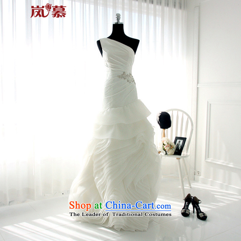 The sponsors of the 2015 New LAURELMARY) Wang smiled design style Western Sau San tether soft chiffon Rose Wedding?XXL(B=100/W=84) pure white