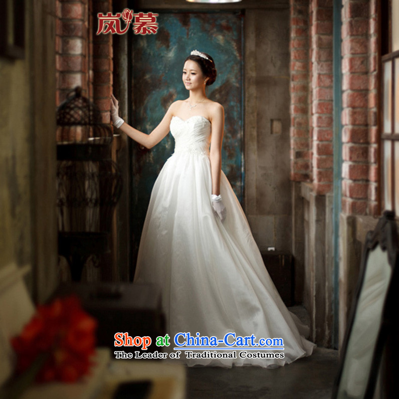 The sponsors of the?2015 New LAURELMARY, Korean minimalist design and chest Super sweet bride wedding dresses ivory?L(B-90/W-74)