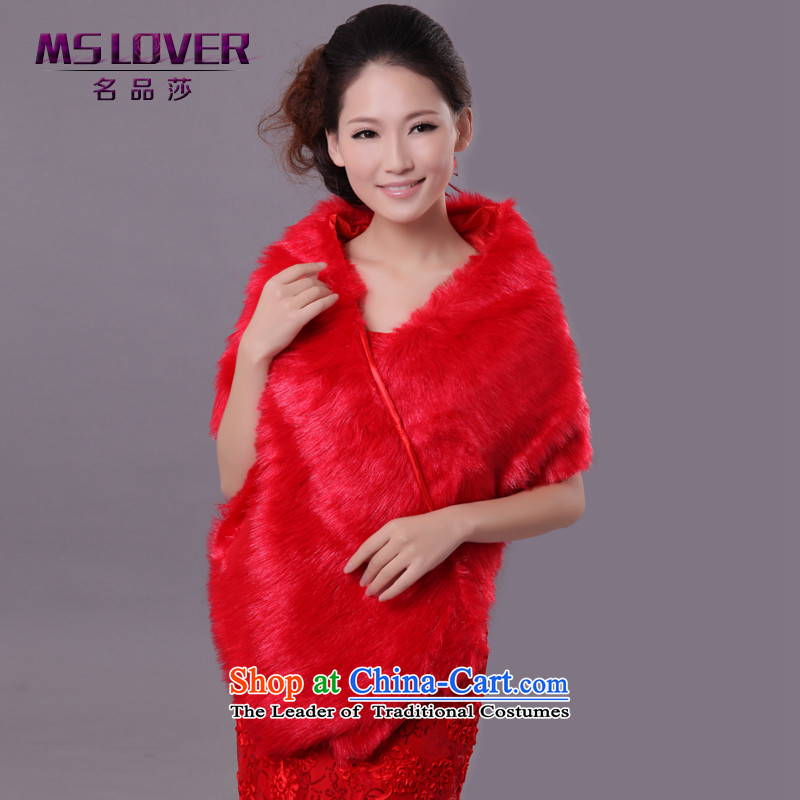�Wedding dress in spring and autumn mslover warm winter partner plush long hair shawl�FW121116 marriages�red