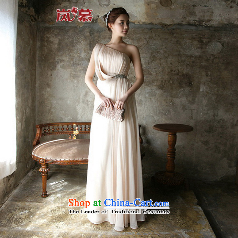The sponsors of the 2015 New LAURELMARY, Korean citizenry shoulder long evening dresses bows annual service figure dress?L(B-90/W-74) colors and designs