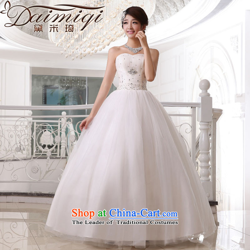 Doi m qi wedding dresses 2014 new minimalist wiping the chest to wedding Sau San video thin white wedding straps, White?XL