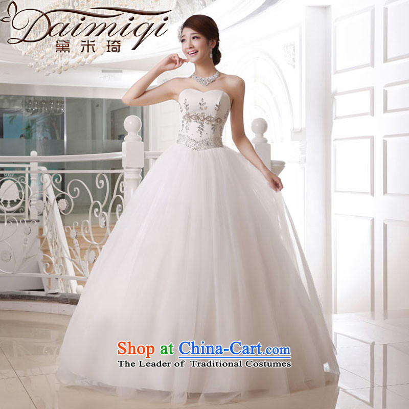 Doi m qi wedding dresses new 2014 anointed chest to wedding deluxe princess diamond wedding white�L