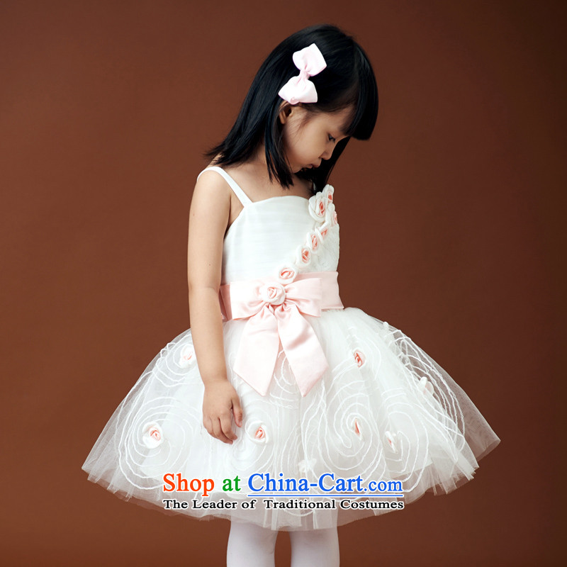 Shared Keun guijin wedding dresses children wedding dresses Flower Girls bon bon skirt straps rose princess skirt girls will show 3 2 code from Suzhou Shipment
