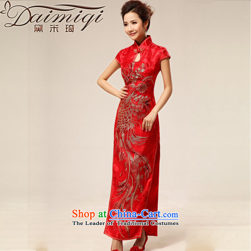 Doi m qi new wedding dresses and sexy Chinese style qipao bride retro married improved qipao qipao red red XXL