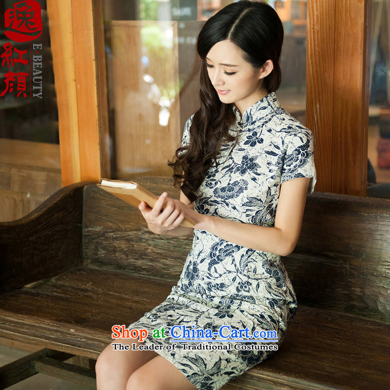 A Pinwheel Without Wind--jae (Yat-lan?2015 Summer New Stylish retro improved qipao linen short skirt suits QIPAO)?M