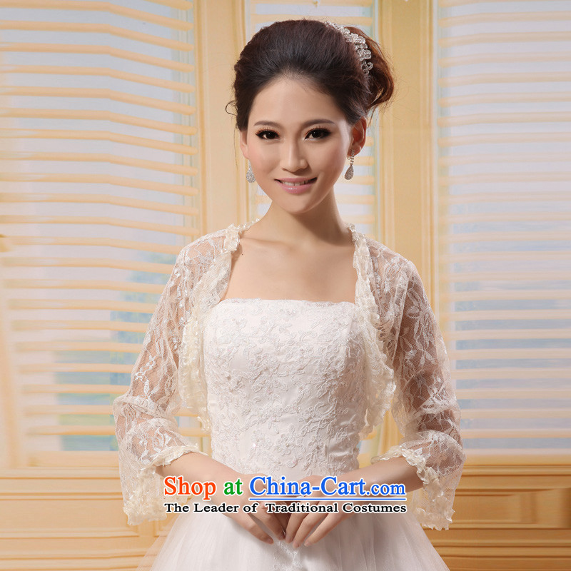 �Korean horn cuff mslover lace marriages cheongsam wedding dresses in spring and autumn shawl shawl�OW121104�champagne color are code