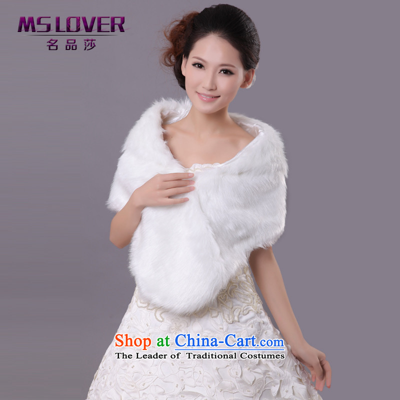Mslover�wedding dresses warm partner plush lace large ear thick hair shawl�FW121130 marriages�m White
