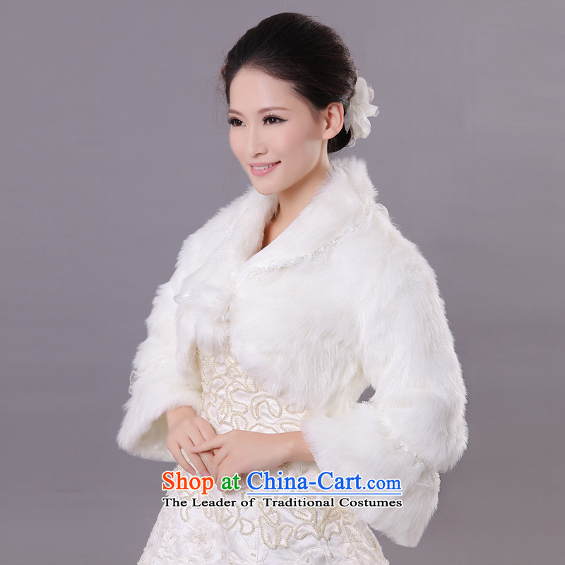 Mslover wedding warm up Korean thick terry horn cuff lace marriages FW121144 gross shawl coat of ivory, Lisa (MSLOVER) , , , shopping on the Internet