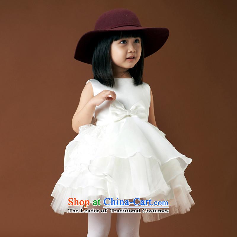 Children's wear dresses guijin Keun-shared child will dance to white dream small lovely children bon bon skirt wedding 8 m White�6 yards from Suzhou Shipment