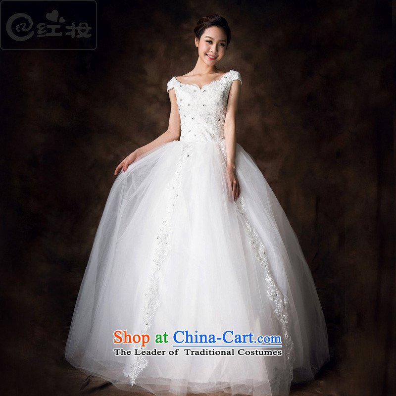 Recalling that Colombia Summer Wedding Package red shoulder Korean style 2015 new sexy lace align to bind with dual shoulder wedding pregnant women can penetrate H13712 white�L