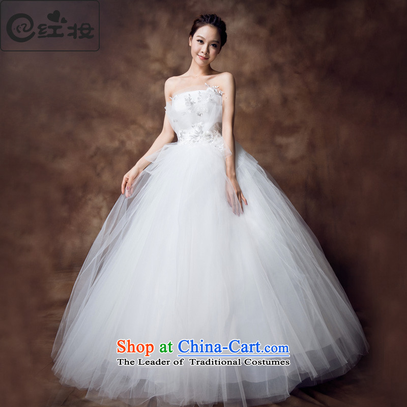 Recalling that the new summer hates makeup and wedding dresses new alignment with breast height waist wedding bon bon lace pregnant women can penetrate H12131 bride White?XL