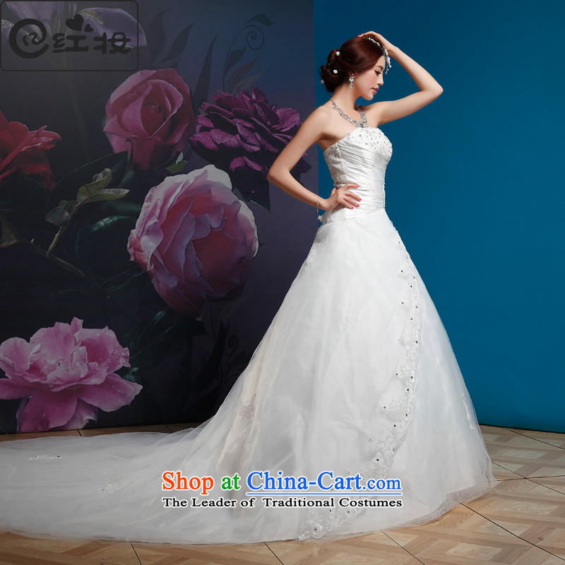 Recalling that the red Colombia Summer wedding dresses new 2015 retro straps and chest wedding Korean-style Deluxe Big trailing white�XL( H11022 bride spot)