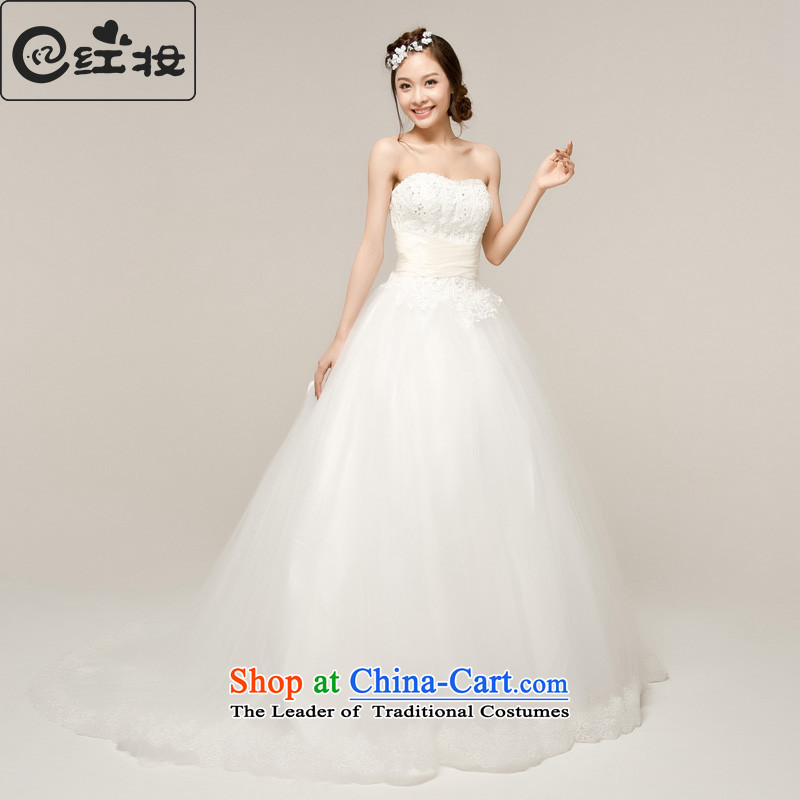 Recalling that hates makeup and summer 2015 new Korean Royal Princess Bride small trailing wedding wedding dress new wedding H13013 White�XL