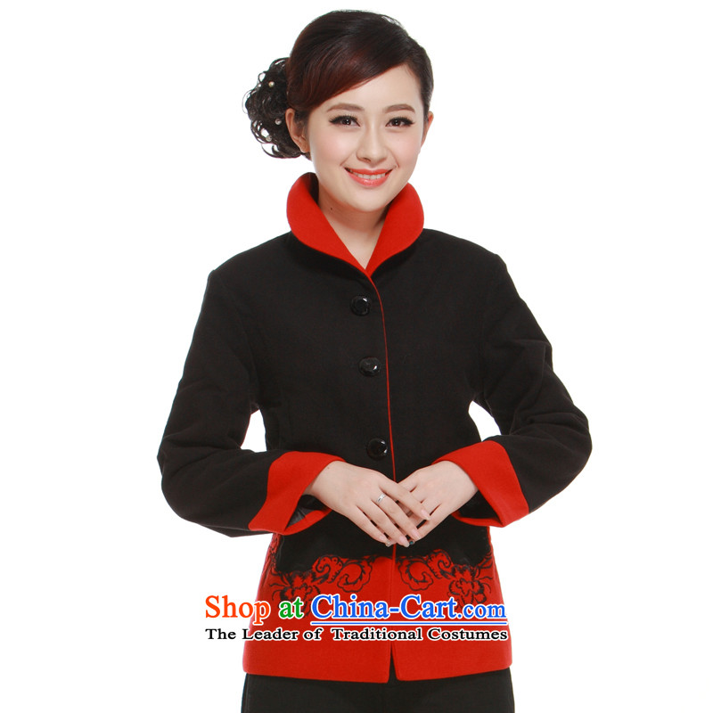 2014 Spring and Autumn of Ms. Tang dynasty jacket? gross Mock-Neck Shirt? elegance of the former Yugoslavia Li?QW319 aware?black?L