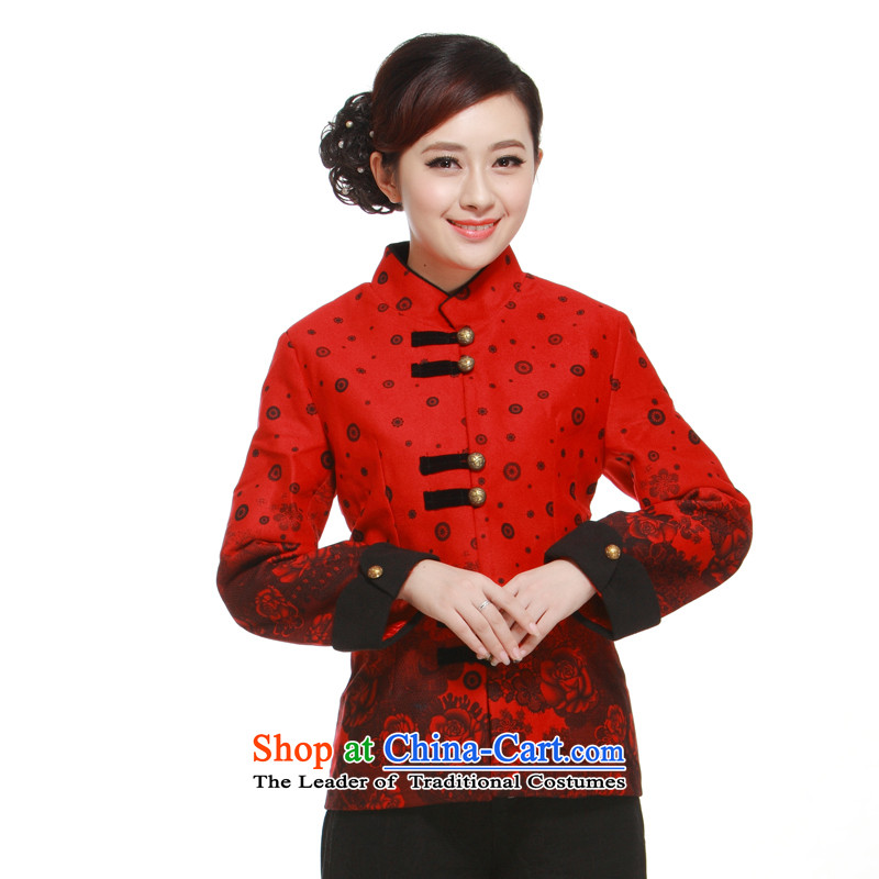 Ms. Tang dynasty 2014 T-shirt new 2-color in sleek improved short high-end gross jacket for the Former Yugoslavia informed? Li? QW323??XXXL red