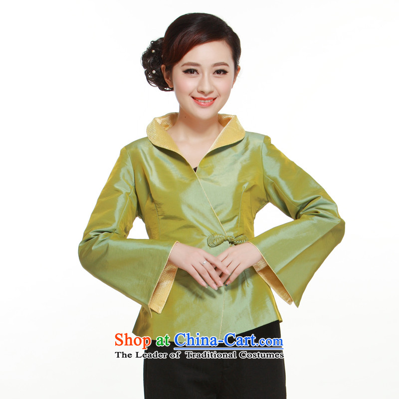 In spring and autumn 2015 new 4�-color into a grain of elegant and stylish distinguished improved ties with the former Yugoslavia, Ms. Tang Li aware�QN3043 shirt�green�XXL