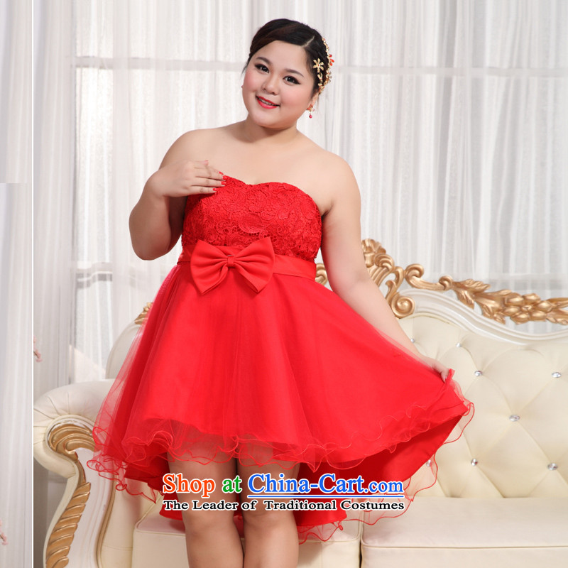 Shared Keun guijin 2013 new Korean wiping the chest straps dress expertise behind MM extra graphics thin dress BHS13 pregnant women large red XXXXL scheduled 3 days from Suzhou Shipment