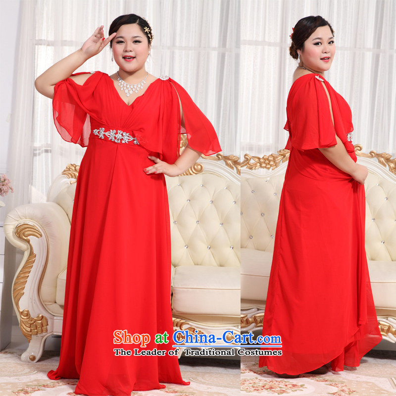Shared Keun guijin 2013 new thick MM extra dress XL Graphics thin large dress long alignment to dress BHS15�XXXXL Red Book 3 days from Suzhou Shipment