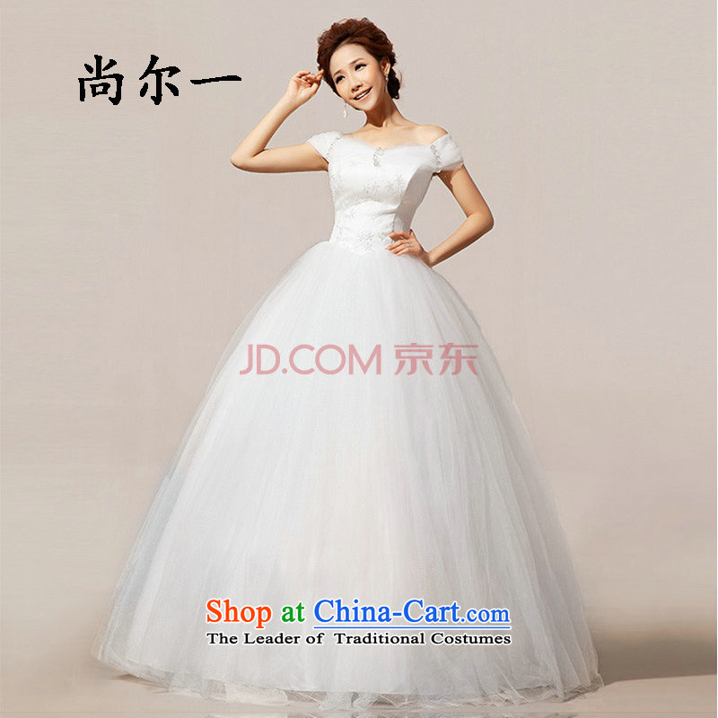 The population of Taiwan New 2014 bride wedding dresses shoulder the word wedding princess bon bon XS1933 wedding package�M