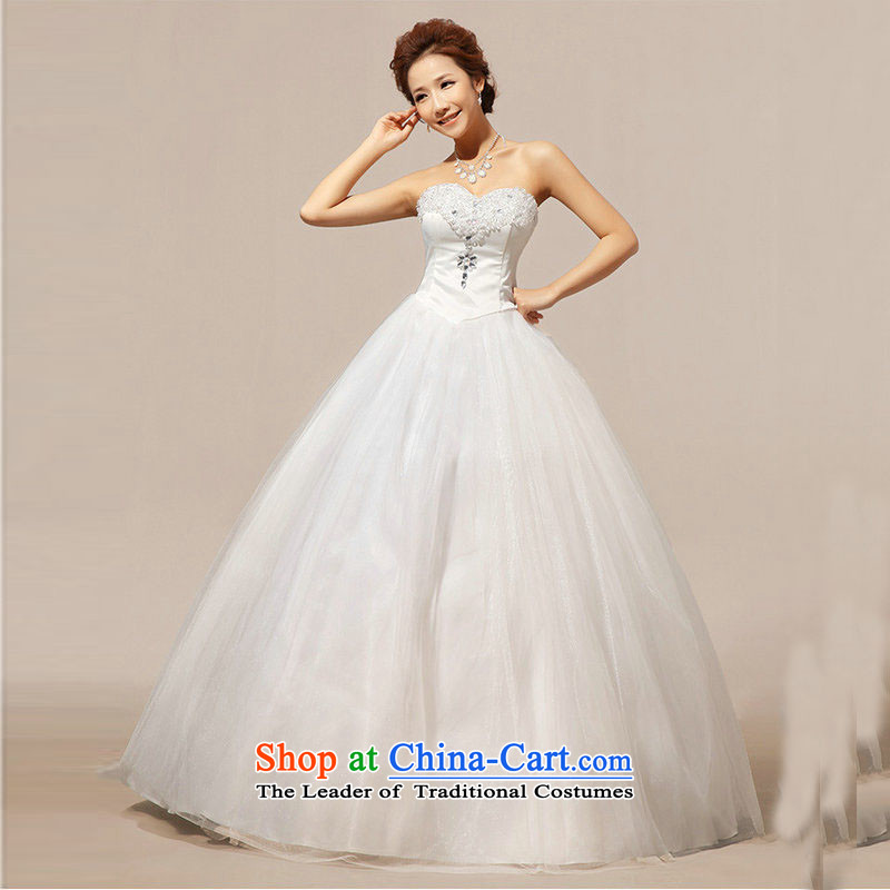 Taiwan's 2013 Korean anointed chest wedding lace stitching crystal diamond bon bon wedding dresses XS1922 package?S